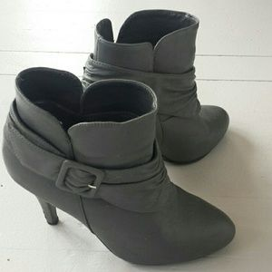 Forever 21 grey ankle booties